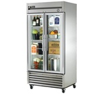 True 40-Inch (2) Glass Door 35 Cu.Ft. Bottom Mounted Reach-In Refrigerator, (T-35G-LD)