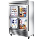 True 54-Inch (4) Glass Half Door 49 Cu.Ft. Reach-In Refrigerator, (T-49G-4)