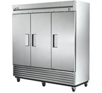 True 78-Inch 72 Cu.Ft. (3) Door Bottom Mounted Reach-In Freezer, (T-72F)