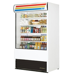 True TAC-48-LD Vertical Air Curtain Merchandiser