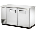 "True TBB-2-S 59"" (2) Solid Door Stainless Steel Back Bar Cooler"
