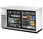 "True TBB-24-60G-SD-S-LD 61"" Stainless Steel Back Bar Cooler"