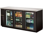 "True TBB-24-72G-LD 72"" (3) Glass Door (4) shelf Back Bar Cooler"