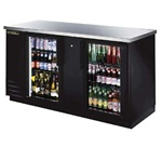"True TBB-3G-LD 69"" 2 Glass Doors Back Bar Cooler"