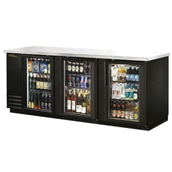 "True TBB-4G-LD 90"" Refrigerated Back Bar Cooler"
