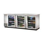True TBB-4G-S-LD Stainless Steel Refrigerated Back Bar Cooler