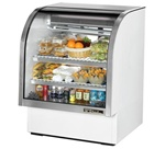 True 36.25-Inch Curved Glass Refrigerated Deli Case, (TCGG-36-LD)