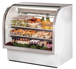 True 48.25-Inch Curved Glass Refrigerated Deli Case, (TCGG-48-LD)