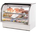 True 60.25-Inch Curved Glass Refrigerated Deli Case, (TCGG-60-LD)