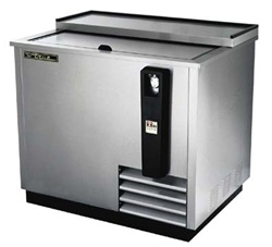True 37-Inch Stainless Steel Flat Top Bottle Cooler, (TD-36-12-S)