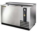 True 50-Inch Stainless Steel Flat Top Bottle Cooler, (TD-50-18-S)
