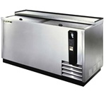 True 65-Inch Stainless Steel Flat Top Bottle Cooler, (TD-65-24-S)