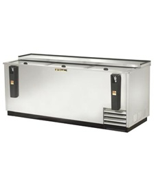 True 80-Inch Stainless Steel Flat Top Bottle Cooler, (TD-80-30-S)