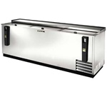 True 95-Inch Stainless Steel Flat Top Bottle Cooler, (TD-95-38-S)