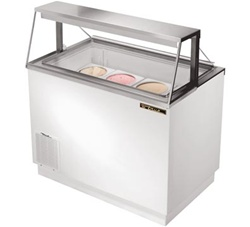 True 12.7 Cubic Feet Ice Cream Dipping Cabinet, Holds (12) 3-gallon cans, (TDC-47)