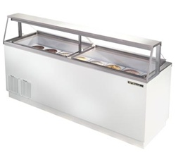 True 27.9 Cubic Feet Ice Cream Dipping Cabinet, Holds (28) 3-Gallon Cans, (TDC-87)