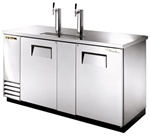 True (2) Door 3 Keg Stainless Steel Beer Cooler, (TDD-3-S)