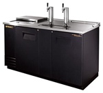 True (2) Door 3 Keg Club Top Draft Beer Cooler, (TDD-3CT)