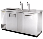 True (2) Door 3 Keg Stainless Steel Club Top Cooler, (TDD-3CT-S)