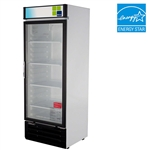 Turbo Air 22 Cu.Ft. Refrigerated Retail Glass Door Merchandiser with (4) Adjustable Shelves, (TGM-22RV)