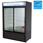 Turbo Air (2) Sliding Glass Door 48 Cu.Ft. Refrigerated Merchandiser, (TGM-48RB)