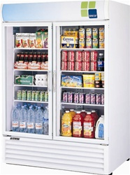 Turbo Air (2) Glass Door 50 Cu.Ft. Refrigerated Merchandiser, (TGM-50RS)