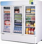 Turbo Air (3) Glass Door 72 Cu.Ft. Refrigerated Merchandiser, (TGM-72RS)