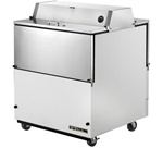True 34-inch White Dual Sided Milk Cooler, (TMC-34-DS-HC)