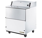 True 34-inch White One Sided Milk Cooler, (TMC-34-HC)