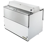 True 49-inch White Two Sided Milk Cooler, (TMC-49-DS-HC)