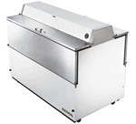 True 58-inch White Dual Sided Milk Cooler, (TMC-58-DS-HC)