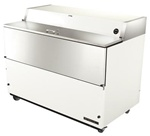 True 58-inch White Dual Sided Milk Cooler, Energy Star Qualified, (TMC-58-HC)