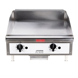 "Toastmaster Countertop Griddle Natural Gas with Thermostatic Controls - 24"" Wide (TMGT24)"
