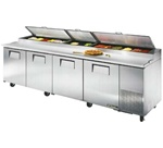 True 119-Inch 43.9 Cu.Ft. (4) Door Pizza Prep Table, (TPP-119)