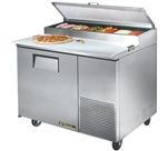 True 44-Inch 11.4 Cu.Ft. (1) Door Pizza Prep Table, With (6) 1/3 Size Pans, (TPP-44)
