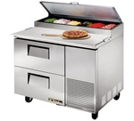 True 44-Inch 11.4 Cu.Ft. (2) Drawer Pizza Prep Table, With (6) 1/3 Pans, (TPP-44D-2)