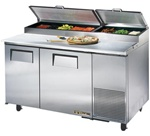 True 60-Inch 15.9 Cu.Ft. (2) Door Pizza Prep Table, With (8) 1/3 Pans, (TPP-60)
