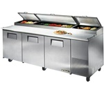 True 93-Inch 30.9 Cu.Ft. (3) Door Pizza Prep Table, With (12) 1/3 Pans, (TPP-93)