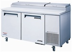 Turbo Air 67-Inch 20 Cu.Ft. (2) Door Pizza Prep Table, With (9) Condiment Pans, (TPR-67SD)