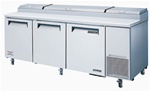 Turbo Air 93-Inch 30.9 Cu.Ft. (3) Door Pizza Prep Table, With (12) Condiment Pans, (TPR-93SD)