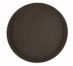 "Winco Easy Hold Tray - Round - Brown - 11"", (TRH-11)"