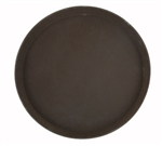 "Winco TRH-16 Easy Hold Round Tray - 16"" Dia., Brown"