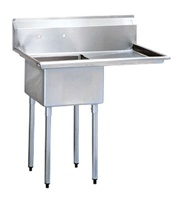 Green World Green World 1-Compartment Sink Rightside Drainboard - TSA-1-12-R1