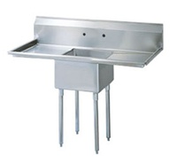 Green World 1-Compartment Sink Left-Right Drainboards - TSA-1-D1