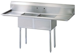Green World 2-Compartment Sink Left-Right Drainboards - TSA-2-12-D1