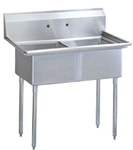 Green World 2-Compartment Sink No-Drainboards - TSA-2-N