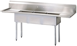 Turbo Air TSA-3-D1 3-Compartment Sink