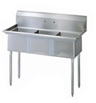 Green World 3-Compartment Sink No-Drainboards - TSA-3-N