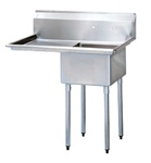Green World 1-Compartment Sink Leftside Drainboard - TSB-1-L2