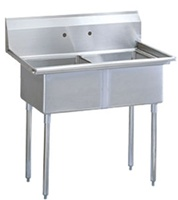 Green World 2-Compartment Sink No Drainboards - TSB-2-N